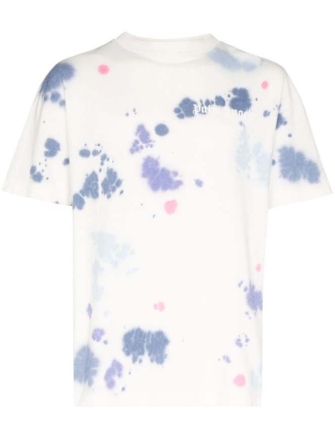 PALM ANGELS MEN TIE DYE NEW BASIC TEE