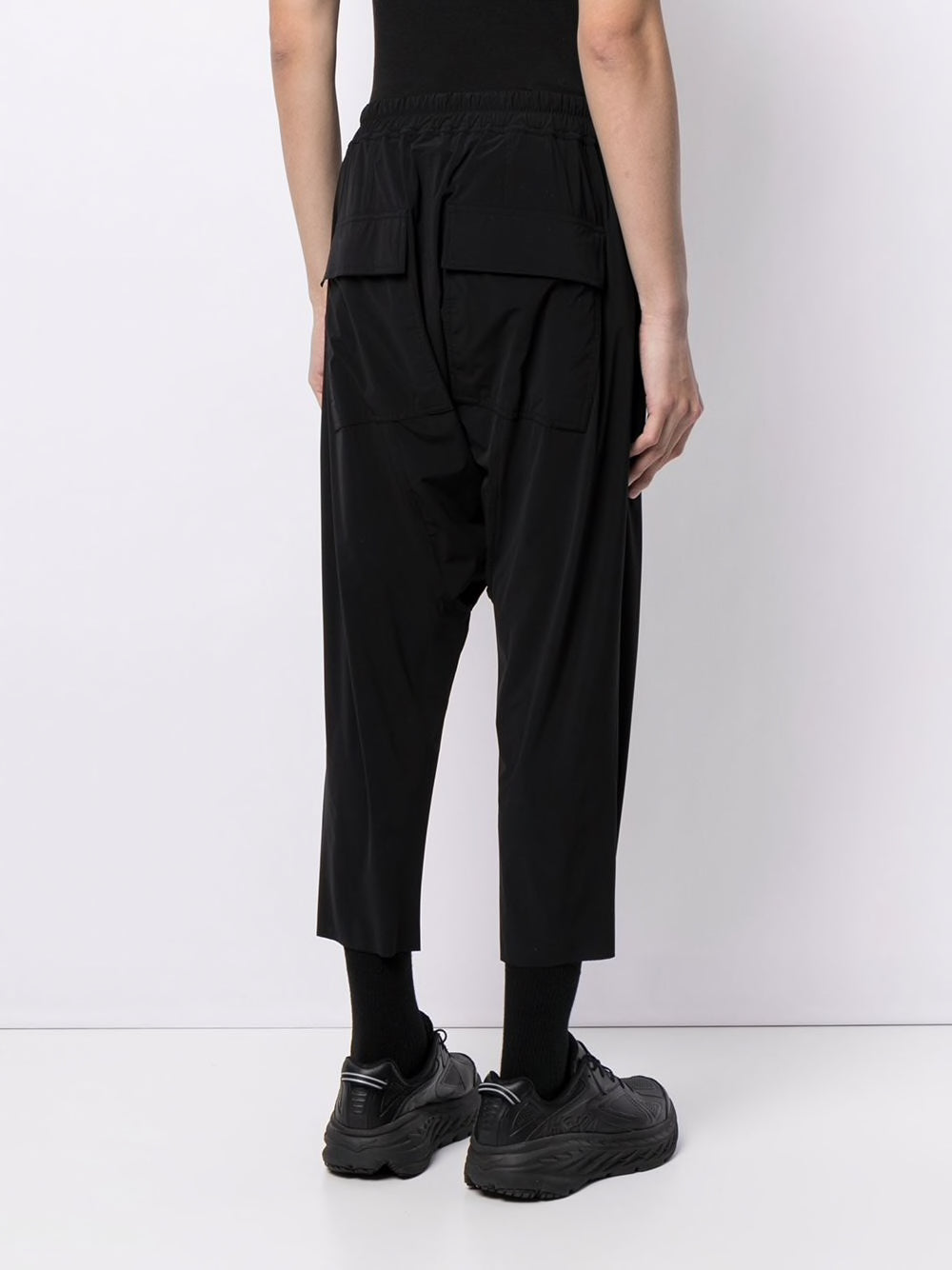 RICK OWENS MEN DRAWSTRING CROPPED PANTS