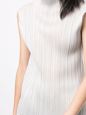 PLEATS PLEASE ISSEY MIYAKE WOMEN HIGH NECK TANK TOP