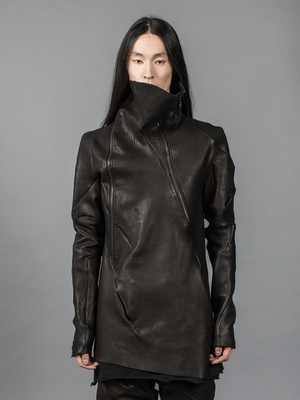 LEON EMANUEL BLANCK LEATHER TURTLENECK JACKET