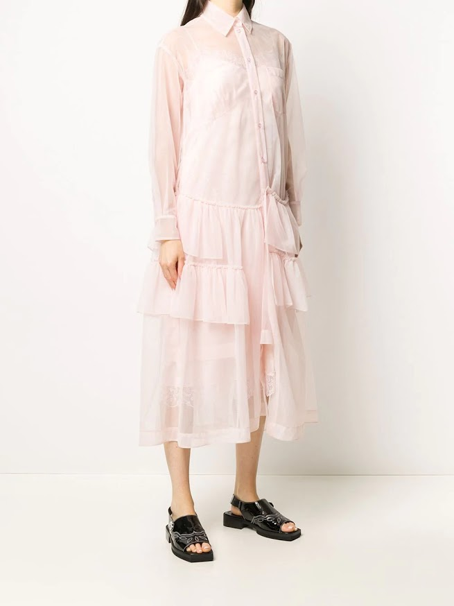 SIMONE ROCHA WOMEN FRILL TIER SHIRT DRESS