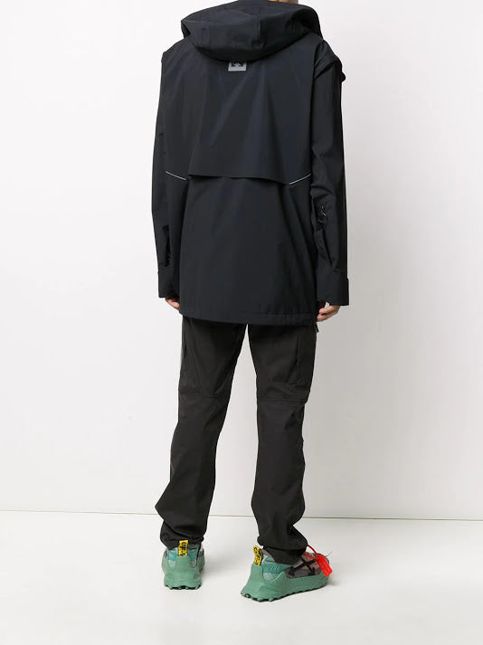 OFF-WHITE MEN TECHNICAL SHELL JACKET BLACK SILVER