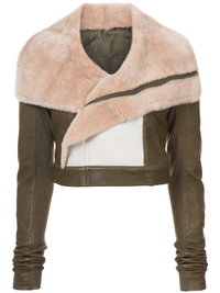 RICK OWENS WOMEN BIKER CROPPED JACKET
