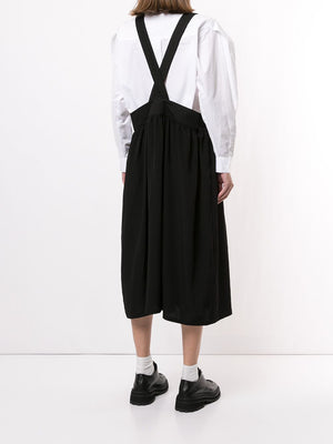 Y'S WOMEN TUCK GATHER SUSPENDER SKIRT