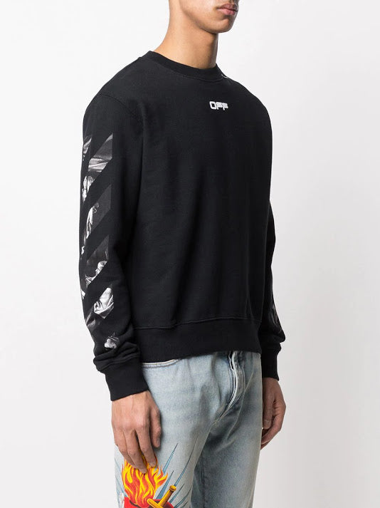 OFF- WHITE MEN CARAVAGGIO SQUARE SLIM CREWNEK