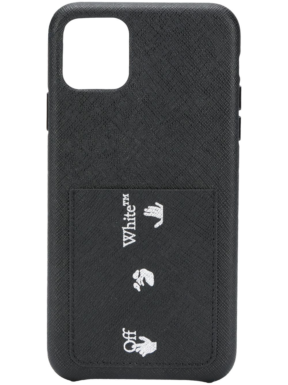OFF-WHITE SAFFIANO IPHONE 11 PRO MAX CASE
