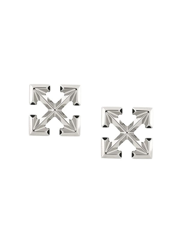 OFF-WHITE WOMEN MINI ARROW EARINGS SILVER NO COLOR
