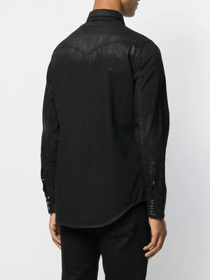 SAINT LAURENT MEN CLASSIC WESTERN SHIRT