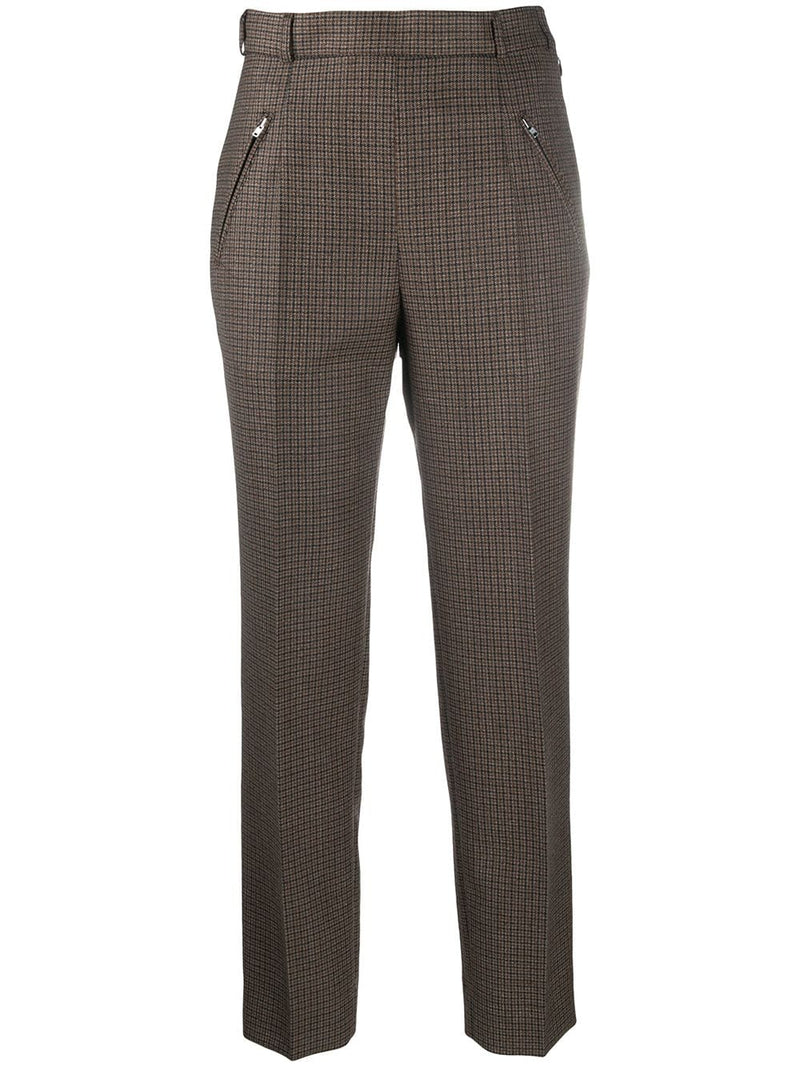 MAISON MARGIELA WOMEN CHECK WOOL PANTS