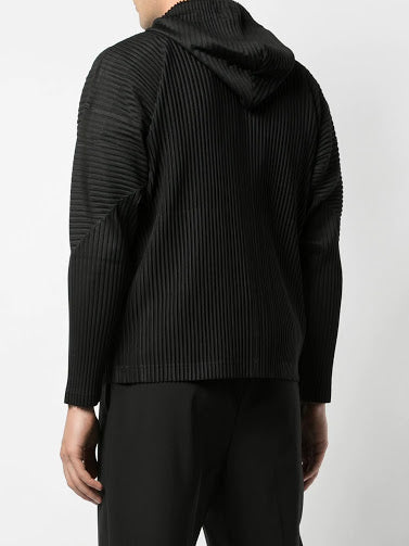 HOMME PLISSE ISSEY MIYAKE MEN PLEATED ZIP UP HOODIE