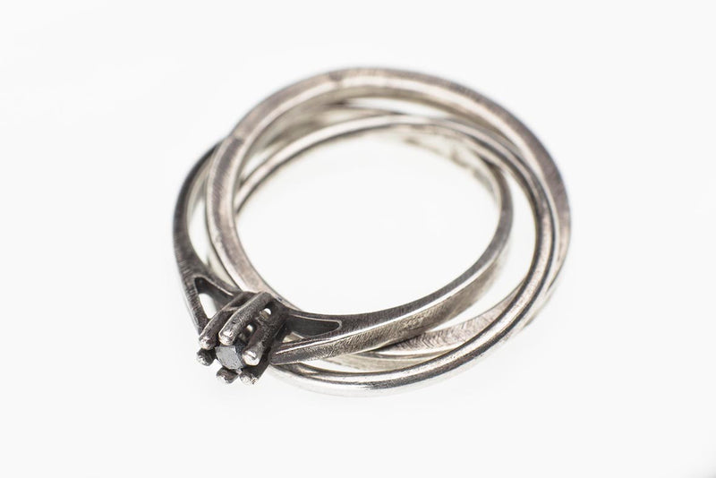 JULIA ZIMMERMANN TIGHTLY KNIT DIAMOND RING