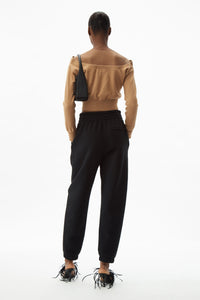 T BY ALEXANDER WANG WOMEN FOUNDATION TERRY CLASSIC SWEATPANT WITH PUFF PAINT LOGO