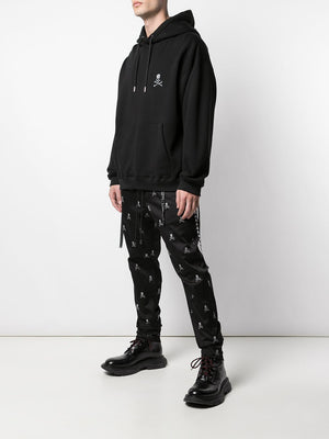 MASTERMIND WORLD MEN EMBROIDERED SKULL LOGO HOODIE