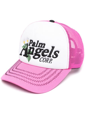 PALM ANGELS WOMEN DAISY LOGO CAP
