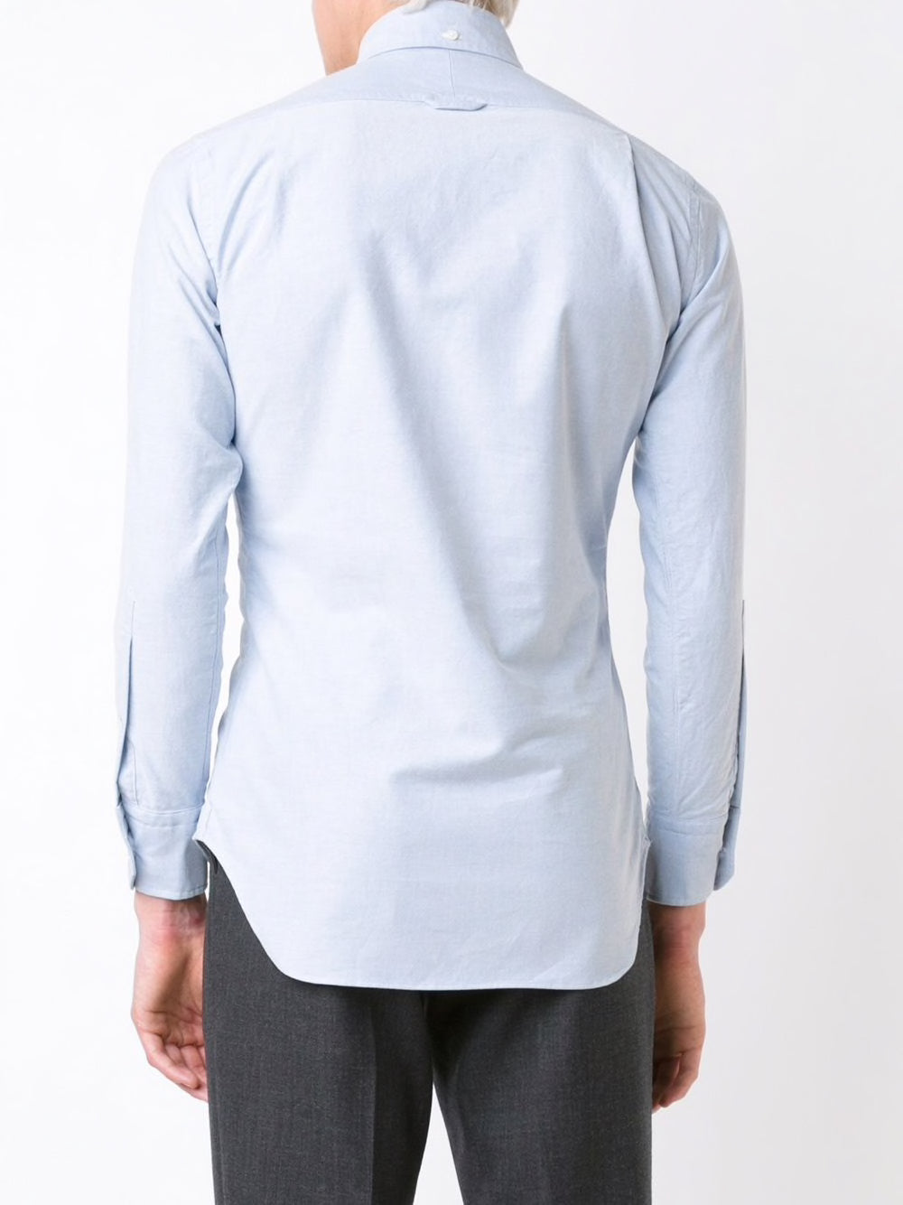 THOM BROWNE MEN CLASSIC L/S BD PC SHIRT W/ CF GG PLACKET IN OXFORD