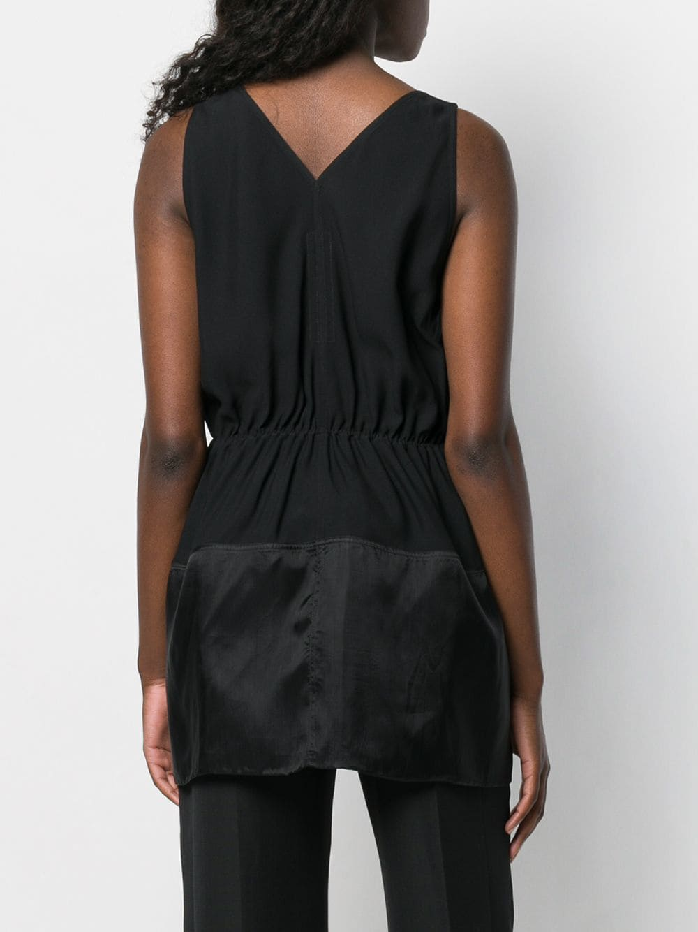 RICK OWENS WOMEN BORDERED V TANK