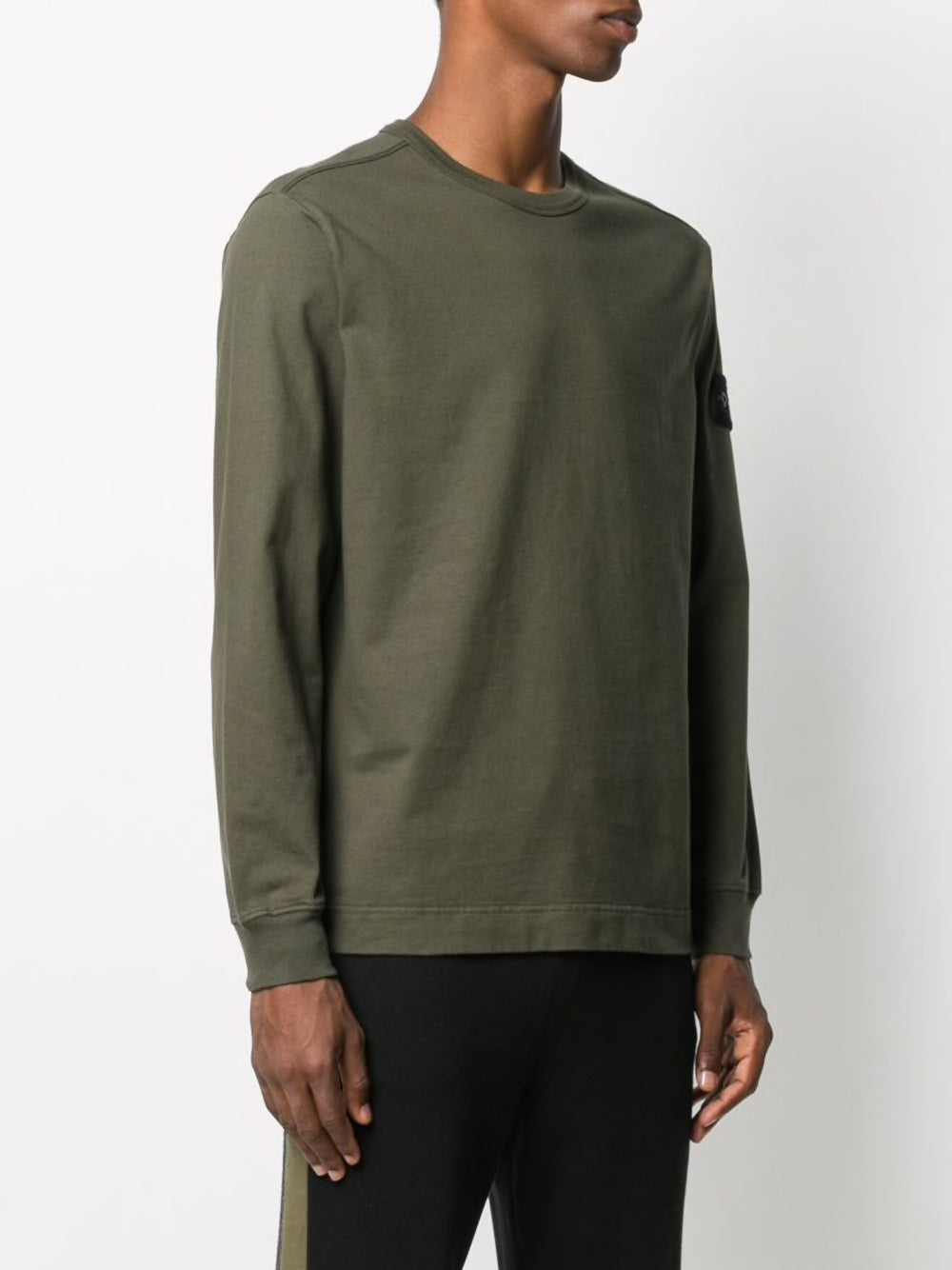 STONE ISLAND MEN SLEEVE LOGO PATCH SWEATSHIRT