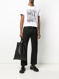MAISON MARGIELA MEN FAKE NEWS TABI PRINT T-SHIRT