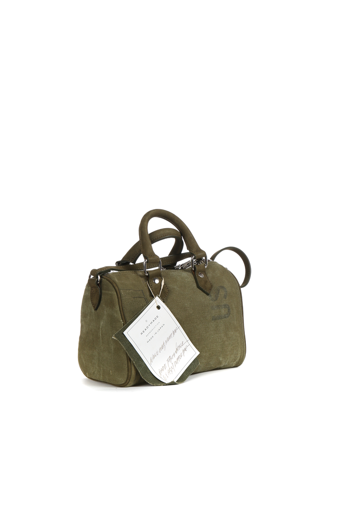 READYMADE VINTAGE ARMY TENT NANO OVER NIGHT BAG