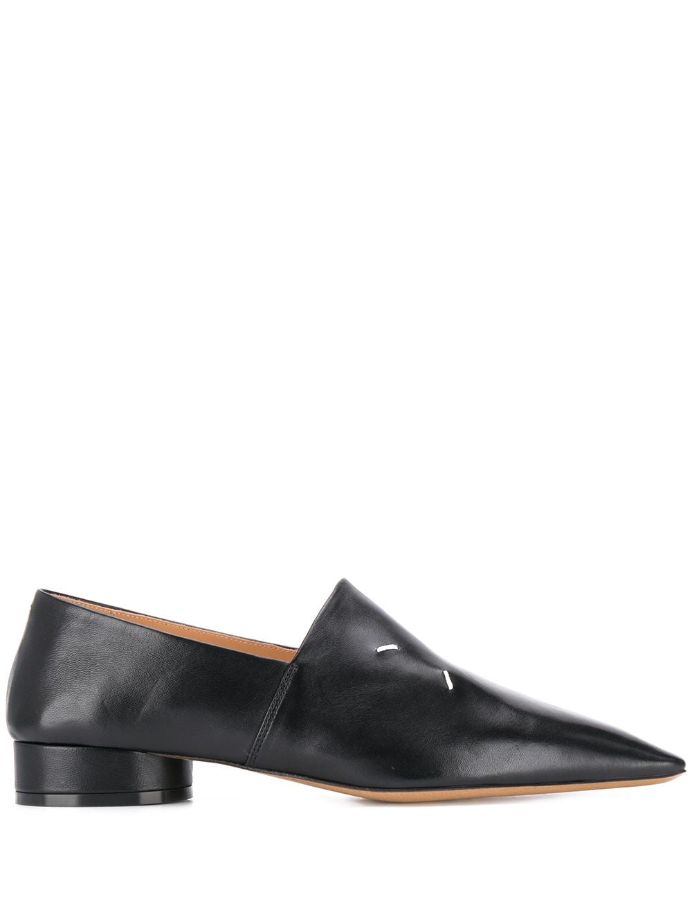 MAISON MARGIELA WOMEN STITCH LOGO POINTY TOE FLATS