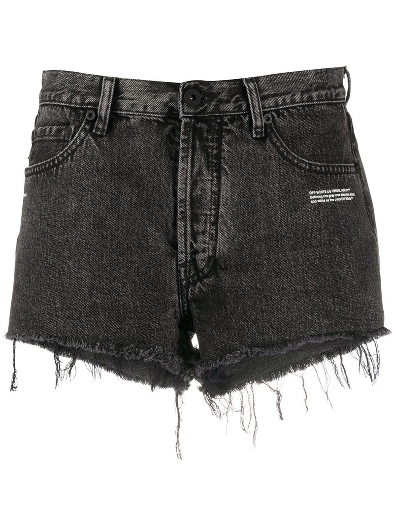 OFF WHITE WOMEN DARK GREY SHORTS