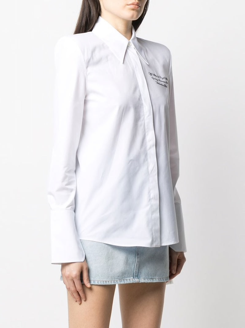 OFF-WHITE WOMEN POPELINE SHOULDER PADS SHIRT