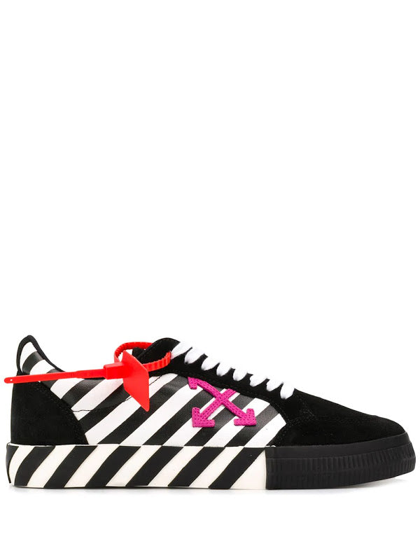 OFF-WHITE MEN DIAG LOW VULCANIZED SNEAKERS