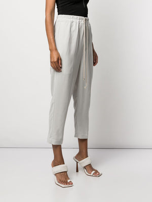 RICK OWENS WOMEN CROPPED ASTAIRES DRAWSTRING PANTS