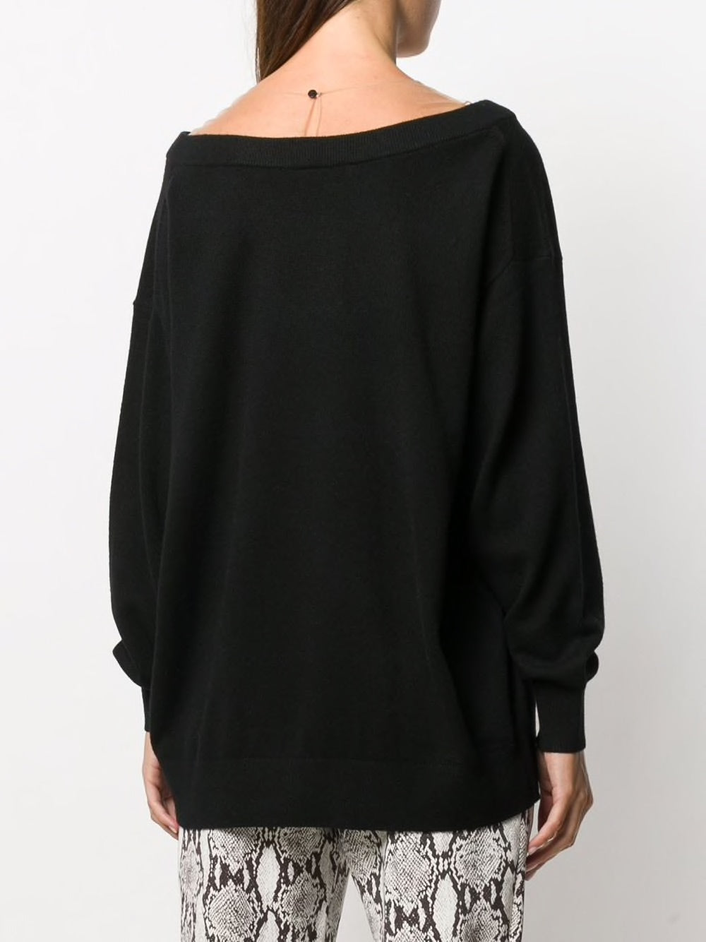 ALEXANDER WANG WOMEN OVERSIZED L/S PULLOVER WITH SHEER YOKE
