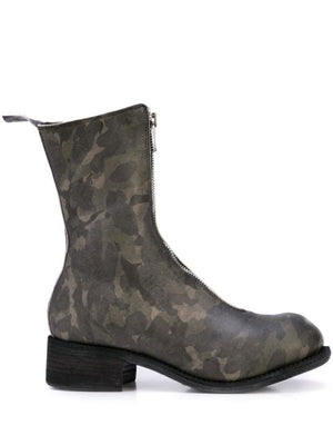 GUIDI MEN HORSE LEATHER PL2 FRONT ZIP BOOTS