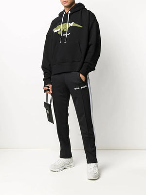 PALM ANGELS MEN CROCO HOODY