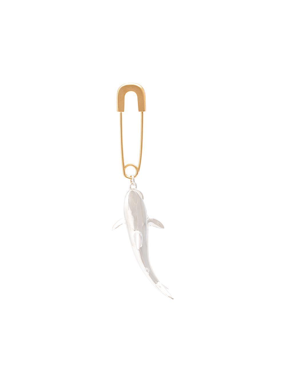 AMBUSH SHARK EARRING SILVER