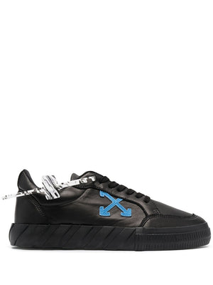 OFF-WHITE MEN LOW VULCANIZED NAPPA LEATHER SNEAKERS