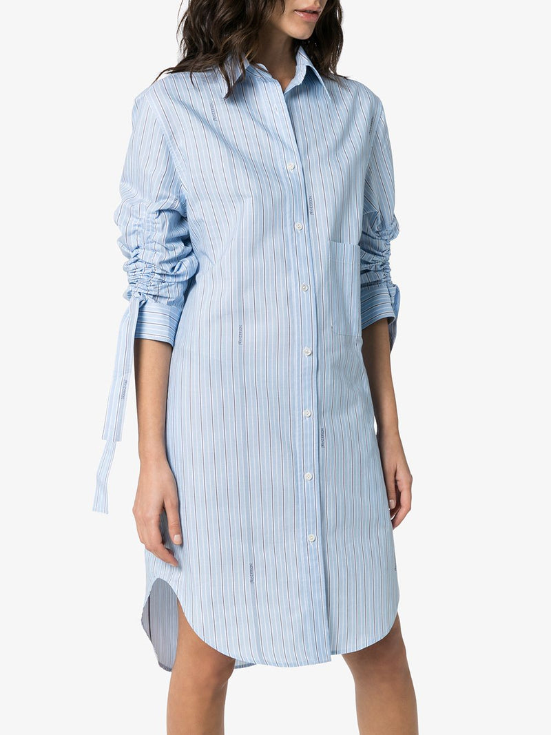 JW ANDERSON WOMEN GATHERED SLEEVE SHIRT DRESS