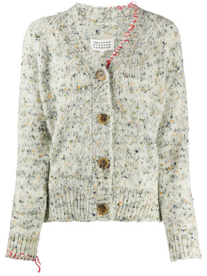 MAISON MARGIELA WOMEN UNTREATED WOOL CARDIGAN