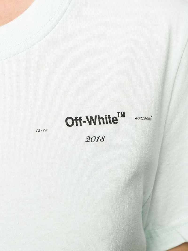 OFF-WHITE WOMEN CORALS PRINT CASUAL TEE LIGHT BLUE BLACK