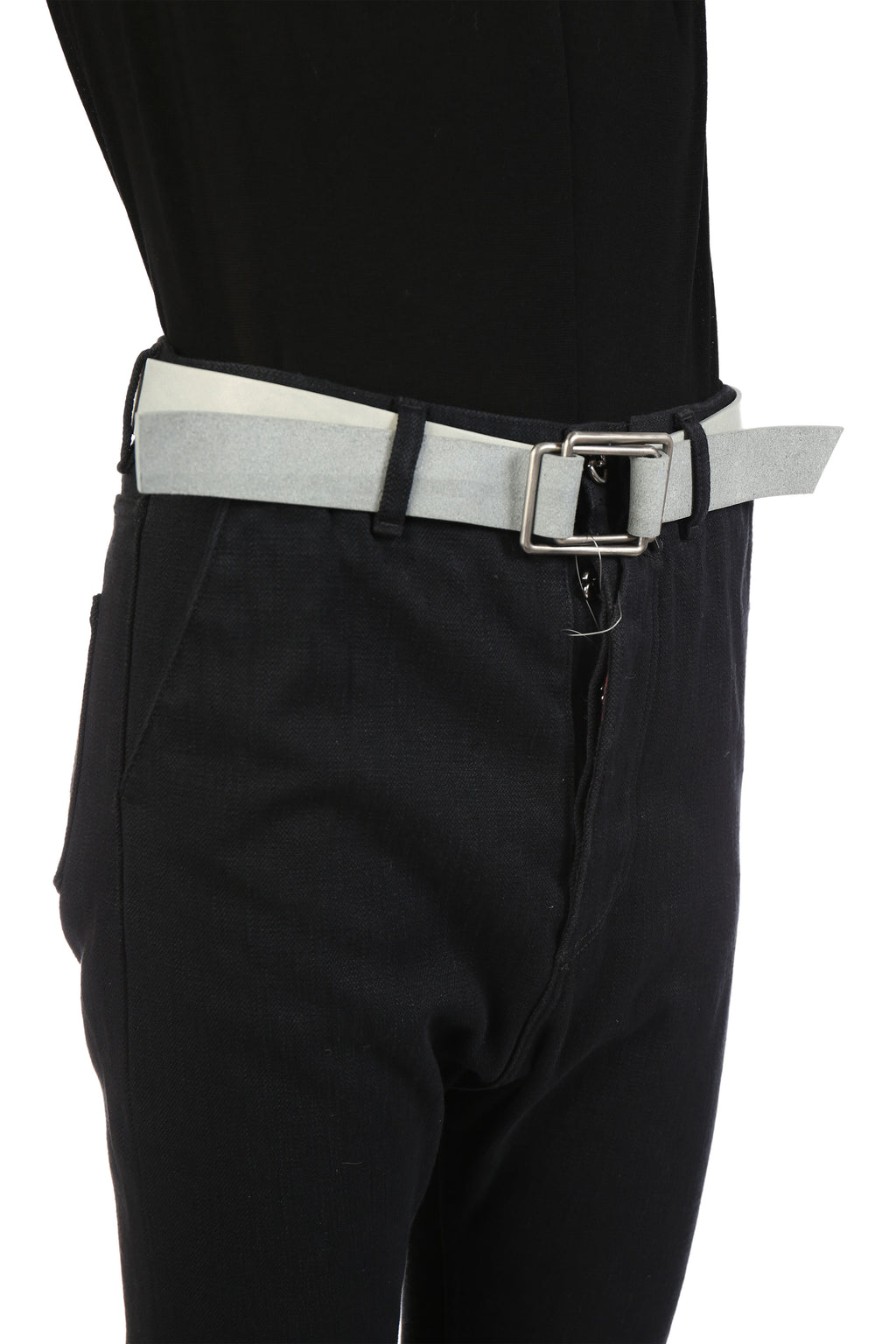 DEEPTI CRUX BUCKLE CLASSIC LEATHER BELT FWBG