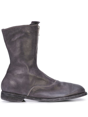 GUIDI MEN 310 HORSE LEATHER FRONT ZIP MILITARY BOOT