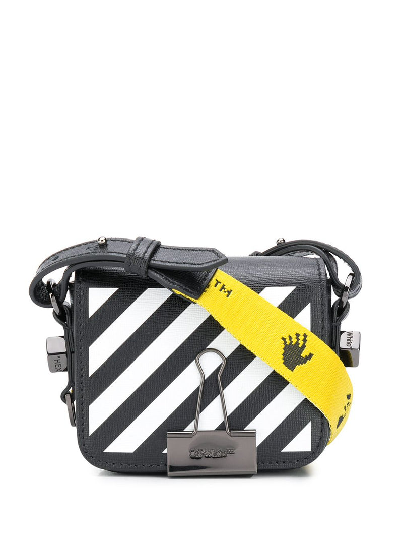 OFF-WHITE WOMEN DIAG BABY FLAP BAG