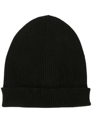 RICK OWENS WOMEN RIBBED WOOL BEANIE