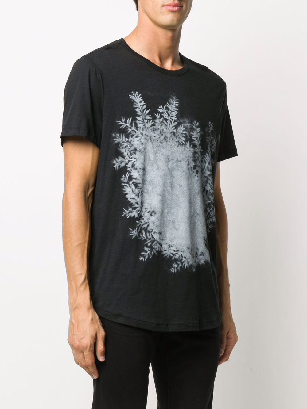 "ANN DEMEULEMEESTER MEN PRINT ""BRANCH""  T-SHIRT"