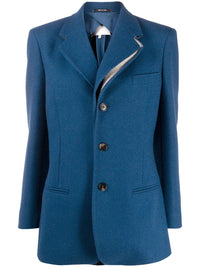 MAISON MARGIELA WOMEN THREE BUTTONS WOOL JACKET WITH COLLAR DETAIL