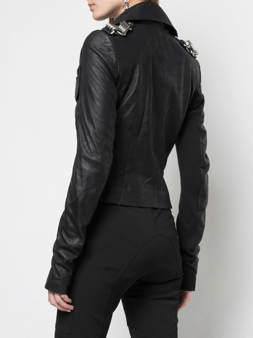 RICK OWENS WOMEN BIKER LEATHER JACKET