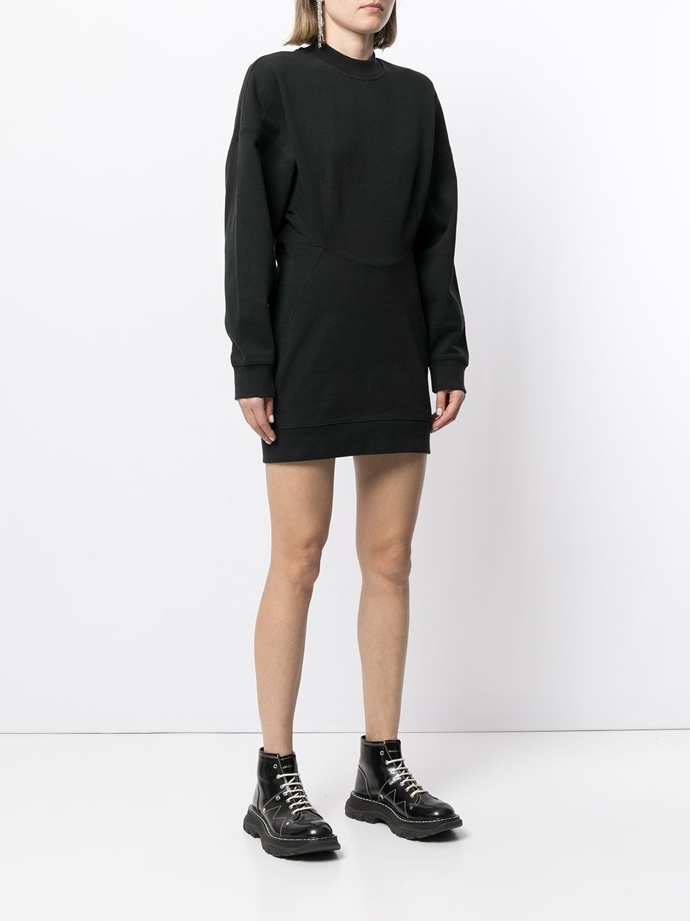 T BY ALEXANDER WANG WOMEN SCULPTED CREWECK MINI DRESS