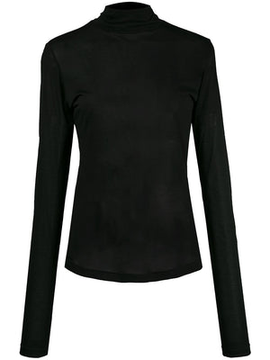 MM6 SEMI-SHEER TURTLE NECK TOP