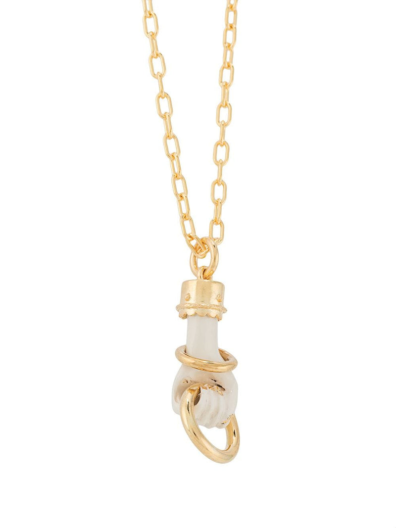 UNDERCOVER FIST NECKLACE WITH LOOP DETAIL