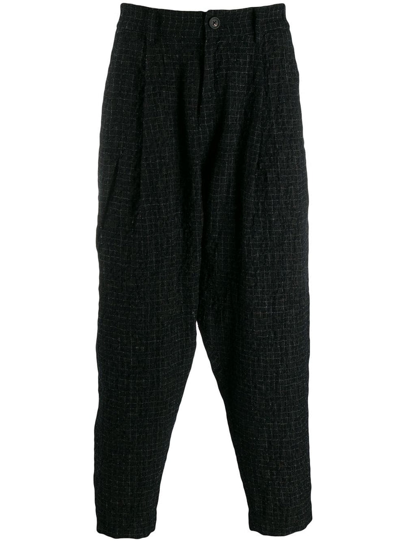 ZIGGY CHEN MEN CROPPED TAPERED TROUSERS