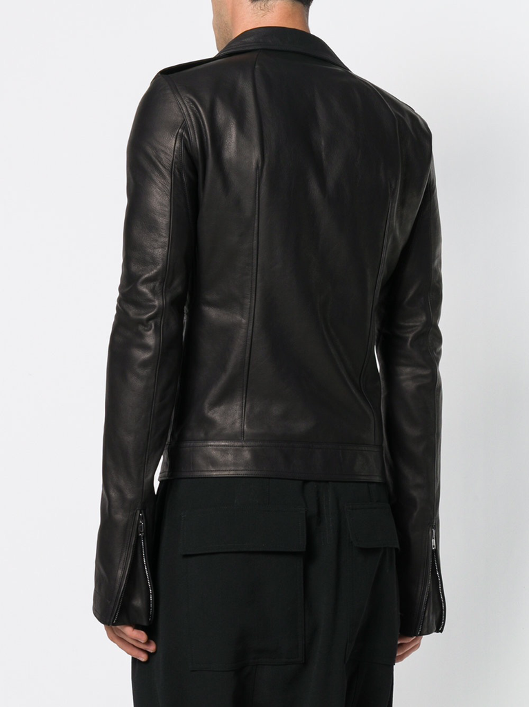 RICK OWENS MEN STOOGES LEATHER JACKET
