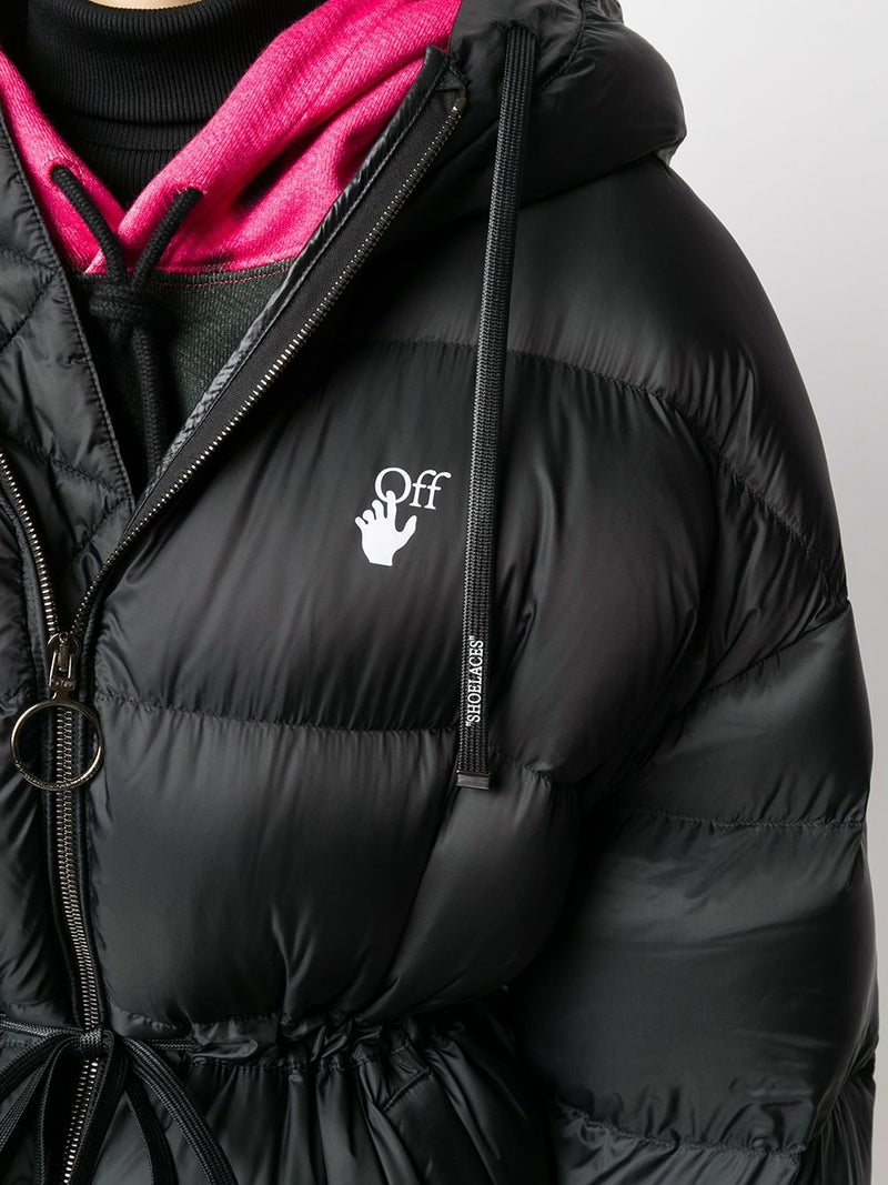 OFF-WHITE WOMEN BELTED PUFFER JACKET