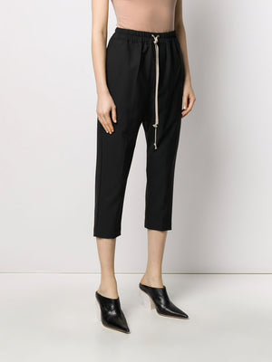 RICK OWENS WOMEN DRAWSRING ASTAIRES CROPPED PANTS